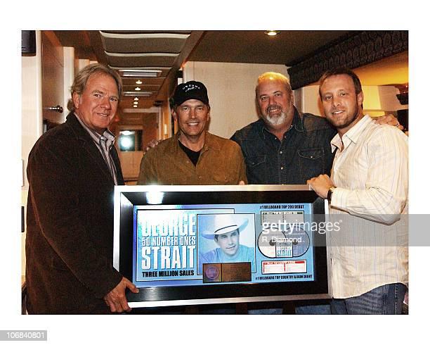Luke Lewis George Strait James Stroud and Ben Kline