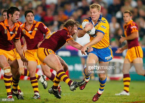 Luke Lewis of City in action during the NRL City Vs Country match played at Express Advocate Stadium May 7 2004 in Gosford Australia