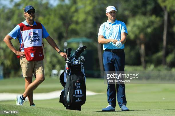 Luke List looks on during the final round of the Honda Classic at PGA National Resort and Spa on February 25 2018 in Palm Beach Gardens Florida