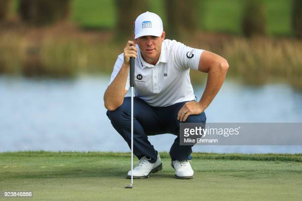 Luke List looks over the fifth green during the third round of the Honda Classic at PGA National Resort and Spa on February 24 2018 in Palm Beach...