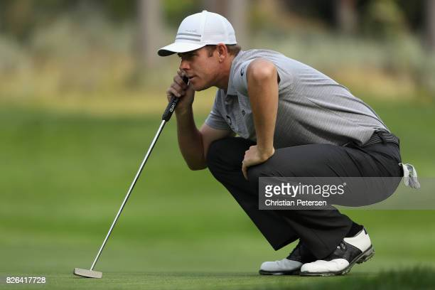 Luke List looks over the seventh green during the second round of the Barracuda Championship at Montreux Country Club on August 4 2017 in Reno Nevada