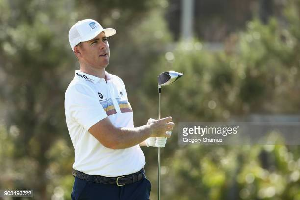 Luke List of the United States plays a shot during the proam tournament prior to the Sony Open In Hawaii at Waialae Country Club on January 10 2018...