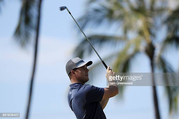 Luke List of the United States plays a shot on the seventh hole during the second round of the Sony Open In Hawaii at Waialae Country Club on January...