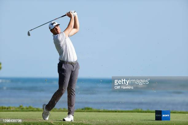 Luke List of the United States plays his shot from the 17th tee during the first round of the Sony Open in Hawaii at the Waialae Country Club on...