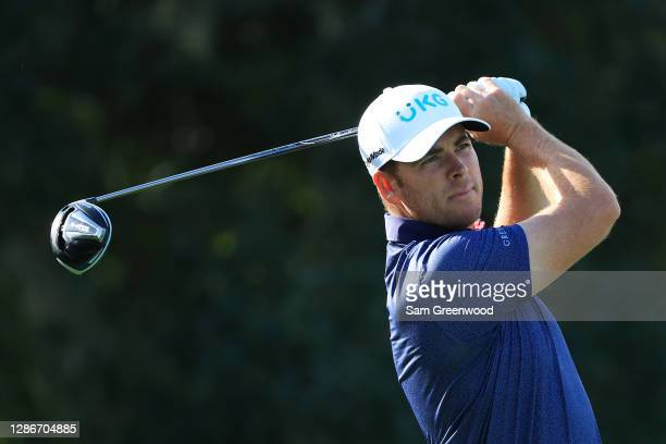Luke List of the United States plays his shot from the second tee during the second round of The RSM Classic at the Seaside Course at Sea Island Golf...