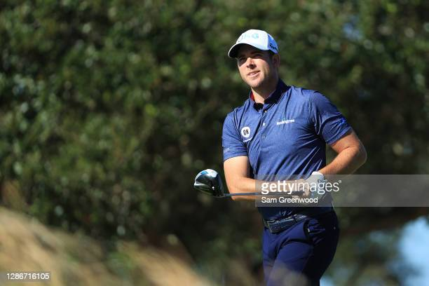 Luke List of the United States plays his shot from the seventh tee during the second round of The RSM Classic at the Seaside Course at Sea Island...