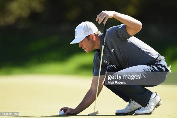Luke List of the United States prepares to putt on the 6th green during the third round of the CJ Cup at Nine Bridges on October 21 2017 in Jeju...