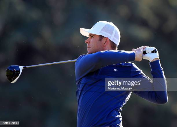 Luke List plays his shot from the 14th tee during the second round of the Safeway Open at the North Course of the Silverado Resort and Spa on October...