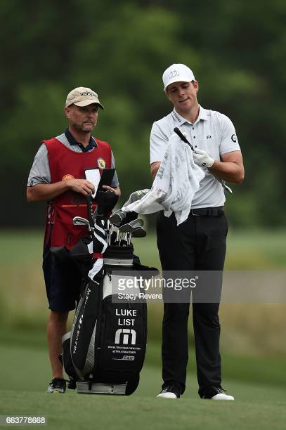 Luke List waits with his caddie in the sixth fairway during the final round of the Shell Houston Open at the Golf Club of Houston on April 2 2017 in...
