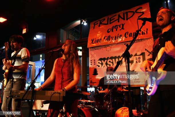 Luke Logan Kim West Nicholas Krivchenia and Ryan Devlin of Smokey Brights perform onstage at Nine Mile Records and Touring during the 2019 SXSW...