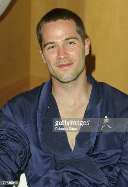 Luke MacFarlane at the Raffles L'Ermitage Hotel in Beverly Hills California