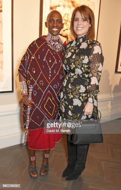 Luke Mamai and Princess Eugenie of York attend the Warrior Games Exhibition VIP preview party sponsored by Chantecaille and hosted by HRH Princess...