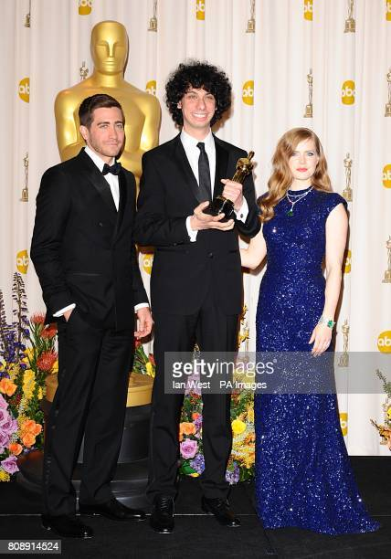 ** ** Luke Matheny with the Best Live Action Short award received for God of Love and Jake Gyllenhaal and Amy Adams at the 83rd Academy Awards at the...