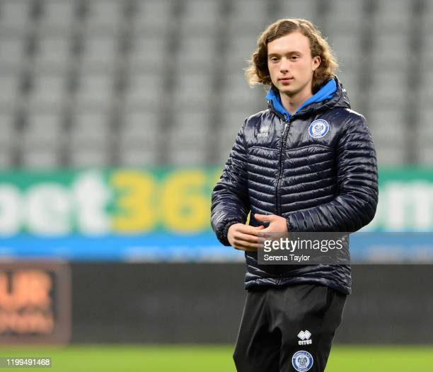 Luke Matheson of Rochdale before the FA Cup Third Round Replay match between Newcastle United and Rochdale AFC at St James Park on January 14 2020 in...