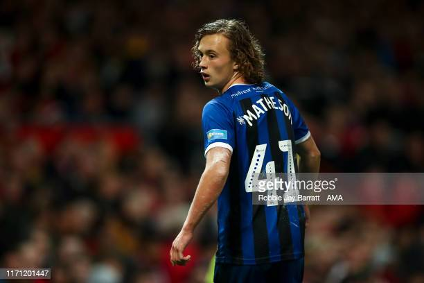 Luke Matheson of Rochdale during the Carabao Cup Third Round match between Manchester United and Rochdale AFC at Old Trafford on September 25 2019 in...
