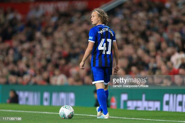 Luke Matheson of Rochdale walks away during the Carabao Cup Third Round match between Manchester United and Rochdale AFC at Old Trafford on September...