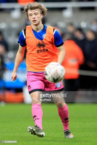 Luke Matheson of Rochdale warms up prior to the FA Cup match between Newcastle United and Rochdale at St James's Park Newcastle on Tuesday 14th...