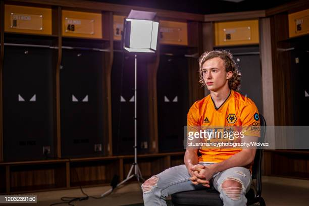 Luke Matheson of Wolverhamptoin Wanderers is interviewed following his signing for the club on January 31 2020 in Wolverhampton England