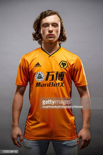 Luke Matheson of Wolverhamptoin Wanderers poses for a portrait following his signing for the club on January 31 2020 in Wolverhampton England