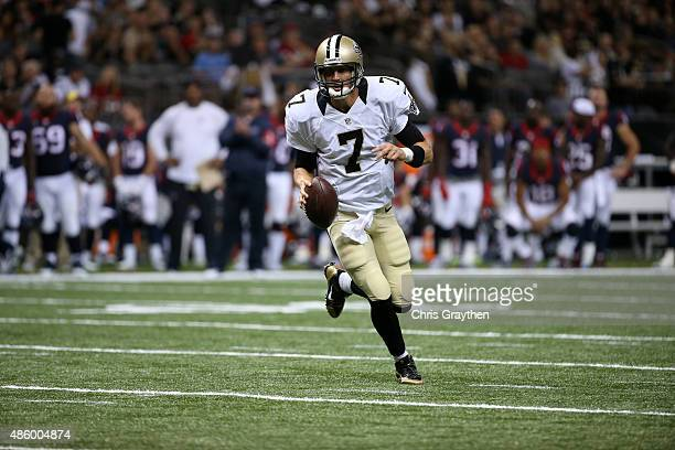 Luke McCown of the New Orleans Saints at the MercedesBenz Superdome on August 30 2015 in New Orleans Louisiana
