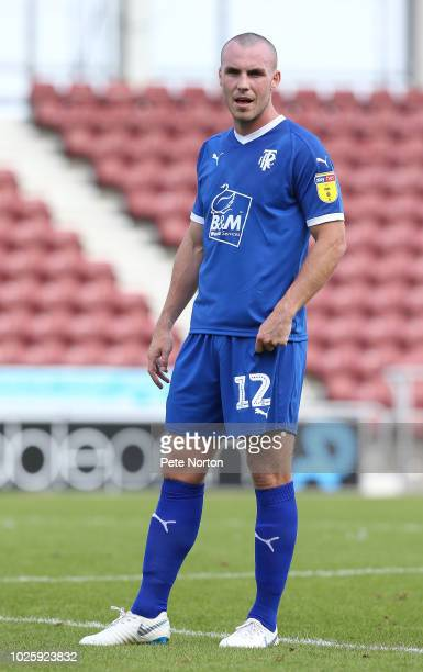 Luke McCullough of Tranmere Rovers in action during the Sky Bet League Two match between Northampton Town and Tranmere Rovers at PTS Academy Stadium...