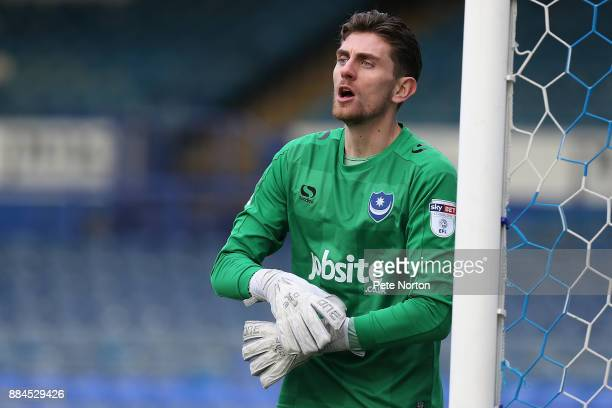 Luke McGee of Portsmouth in action during the Checkatrade Trophy Round 2 match between Portsmouth and Northampton Town at Fratton Park on December 2...