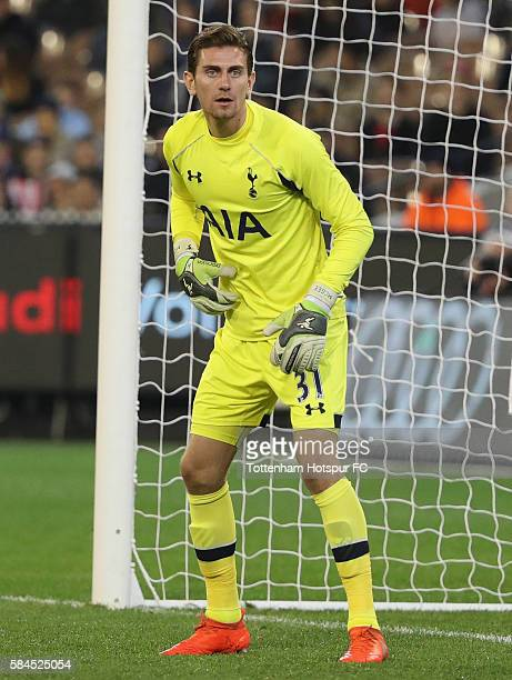 Luke McGee of Tottenham Hotspur looks on during the 2016 International Champions Cup Australia match between Tottenham Hotspur and Atletico de Madrid...