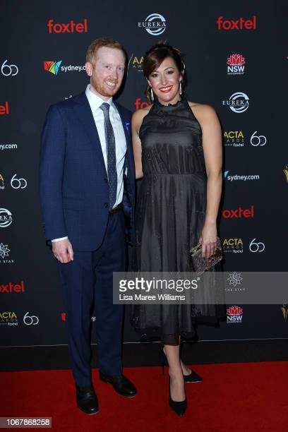 Luke McGregor and Celia Pacquola attends the 2018 AACTA Awards Presented by Foxtel | Industry Luncheon at The Star on December 3 2018 in Sydney...