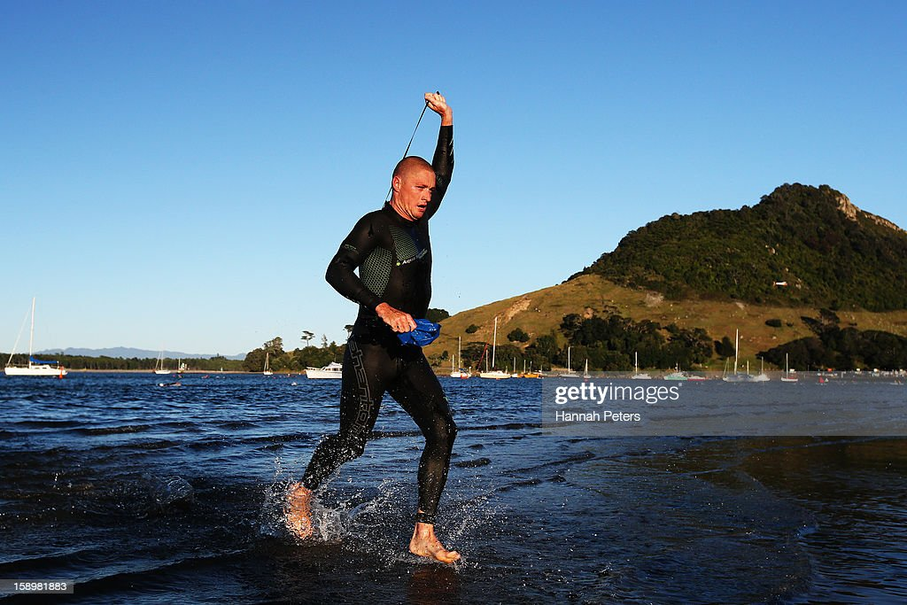 Luke McKenzie of Australia competes in the Port of Tauranga Half Ironman on January 5, 2013 in Auckland, New Zealand.