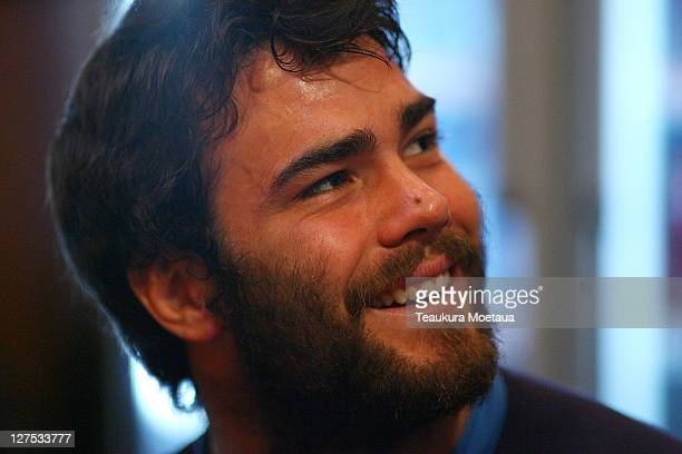 Luke McLean of Italy laughs during a Italy IRB Rugby World Cup 2011 press conference at Mercure Leisure Lodge on September 29 2011 in Dunedin New...