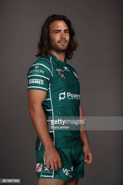 Luke McLean of London Irish poses for a portrait during the London Irish squad photo call for the 20172018 Aviva Premiership Rugby season on August...