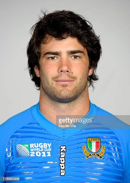 Luke McLean poses during an Italy rugby union team portrait session on July 13 2011 in Villabassa near Toblach Hochpustertal Italy