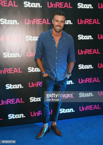 Luke McLeod attends the UnREAL Australian Premiere Party on February 23 2018 in Sydney Australia