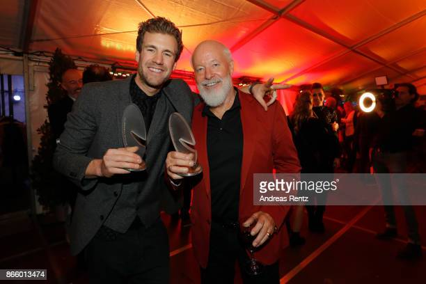 Luke Mockridge and his father Bill Mockridge attend the after show reception during the 21st Annual German Comedy Awards on October 24 2017 in...