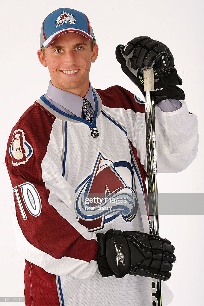 Luke Moffatt, drafted in the seventh round by the Colorado Avalanche poses for a portrait during the 2010 NHL Entry Draft at Staples Center on June 26, 2010 in Los Angeles, California.