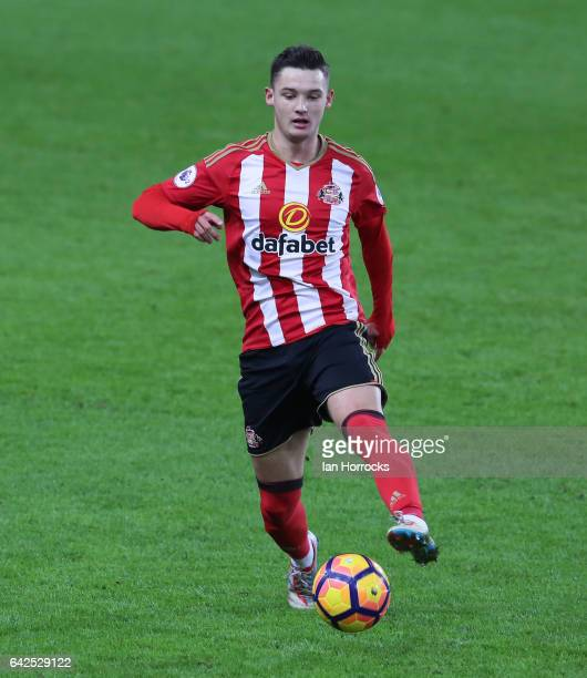 Luke Molyneux of Sunderland during the Premier League International Cup Quarter Final match between Sunderland U23 and Athletic Bilbao U23 at the...