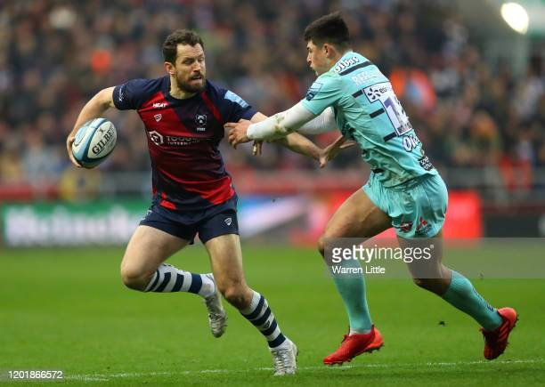 Luke Morahan of Bristol Bears during the Gallagher Premiership Rugby match between Bristol Bears and Gloucester Rugby at Ashton Gate on January 25,...