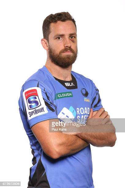 Luke Morahan poses during a Western Force Super Rugby headshots session at the Rugby WA office on April 27 2017 in Perth Australia