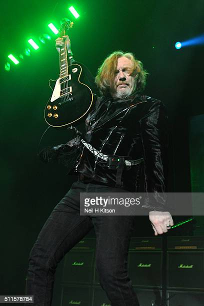 Luke Morley of Thunder performs at Motorpoint Arena on February 19 2016 in Sheffield England
