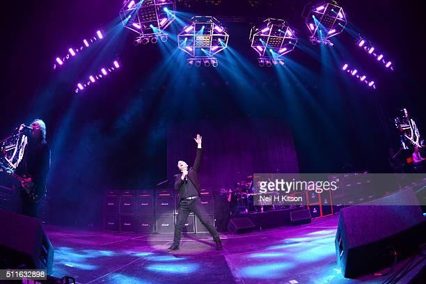 Luke MorleyDanny BowesGary 'Harry' JamesBen MatthewsChris Childs of Thunder Perform at Motorpoint Arena on February 19 2016 in Sheffield England