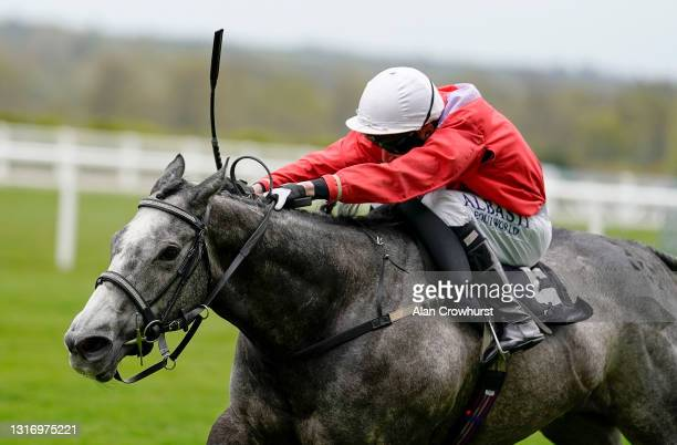 Luke Morris riding Little Boy Blue win The tote+ Pays You More Handicap at Ascot Racecourse on May 08, 2021 in Ascot, England. Only owners are...