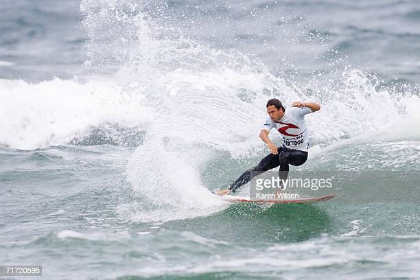 Luke Munro of Gold Coast Australia competes during the Rip Curl Pro Surf Music Festival August 26 2006 in Hossegor France Munro was narrowly...