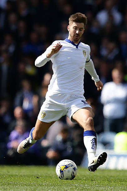 Luke Murphy of Leeds United FC during the Sky Bet Championship match between Leeds United and Charlton Athletic at Elland Road on April 30 2016 in...