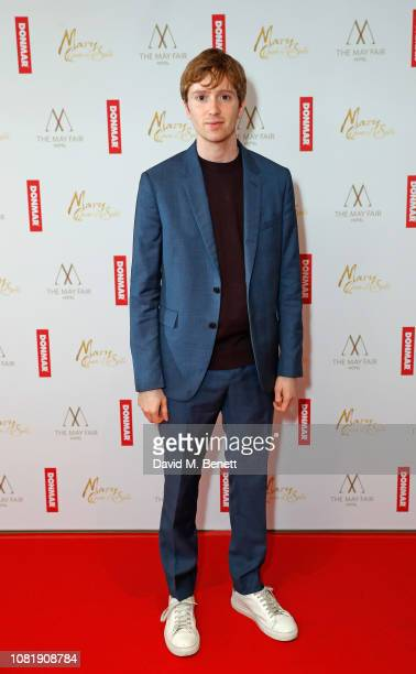 Luke Newberry attends a benefit screening hosted by Donmar Warehouse for their Artistic Director Josie Rourke's debut film 'Mary Queen of Scots' at...