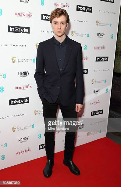 Luke Newberry attends the InStyle EE Rising Star PreBAFTA Party at 100 Wardour Street on February 4 2016 in London England