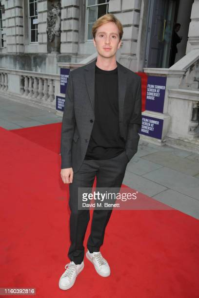 Luke Newberry attends the opening night of Film4 Summer Screen at Somerset House featuring the UK Premiere of Pain And Glory on August 8 2019 in...