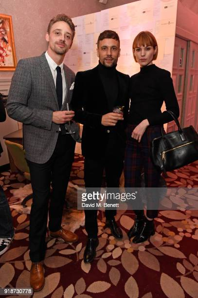 Luke Newberry Nick Blood and Chelsea Houston attend the inaugural Autograph Collection Hotels Short Film Award in partnership with the National Film...