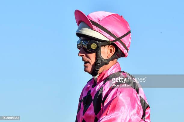Luke Nolen returns to scale after winning the Ladbrokes Cash Out at Caulfield Racecourse on January 17 2018 in Caulfield Australia