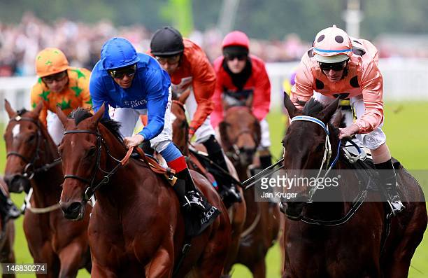 Luke Nolen riding Black Caviar win the Diamond Jubilee Stakes during day five of Royal Ascot at Ascot racecourse on June 23 2012 in Ascot England