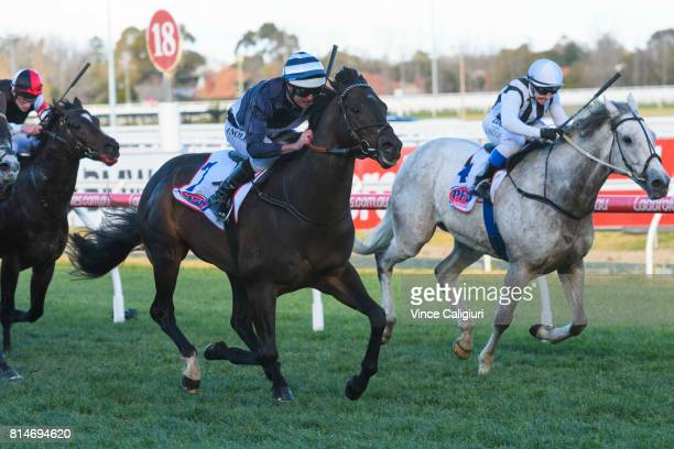 Luke Nolen riding Supido wins Race 7 Monash Stakes during Melbourne Racing at Caulfield Racecourse on July 15 2017 in Melbourne Australia